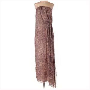 Alice + Olivia Silk Leopard Print Column Gown